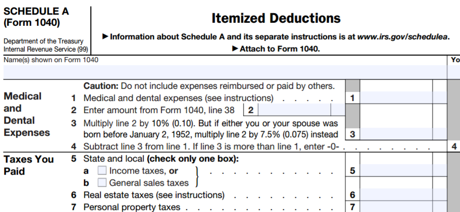 Taxes Paid Deduction Woods Associates